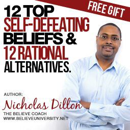 Cover - 12 Top Irrational, Self-Defeating Beliefs & 12 Rational Alternatives